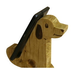 Wooden Dog Shaped Mobile Stand