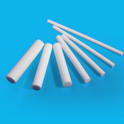 White Polytetrafluoroethylene Rod