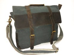 Rustic Canvas Leather Shoulder Bag