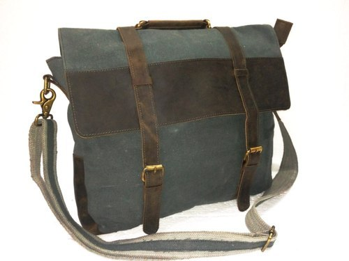 e7754677f337 Canvas Bag - Canvas Leather Executive Tote Bag Exporter from Jaipur