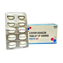 Levofloxacin 500 mg Tablet IP, Packaging Type: Strip
