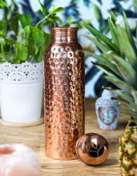 Dr. Water Handpainted Copper Bottle, Capacity: 1000 mL