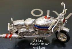 MCJ Multicolor Silver Unique Bike 92.5% Sterling Silver Gift