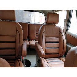 PU Leather Brown Car Seat Cover