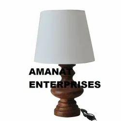 Amanat Enterprises Table Lamps Wooden Lamp, for Decoration