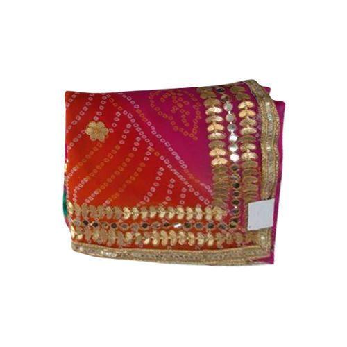ce91559972 Ladies Gota Work Bandhej Saree, Size: 6.5 M, Rs 1050 /piece | ID ...