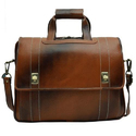 Black And Brown Leather Briefcase