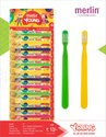 Polypropylene Merlin - Twinkle Toothbrush, For Cleaning Teeth, Pack Size: 12 Pcs Hanger Packed
