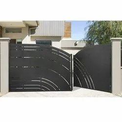 Paint Coated Mild Steel Main Door, For Home, Thickness: 5-10 Mm