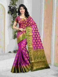 Proper Indian Traditional Look Saree