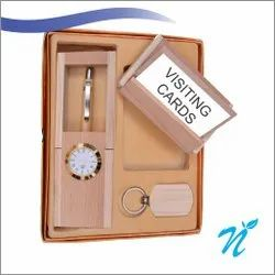 Wooden Gift Set with Plastic Pen