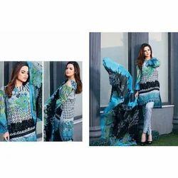 Printed Casual Wear Fancy Lawn Georgette Suit
