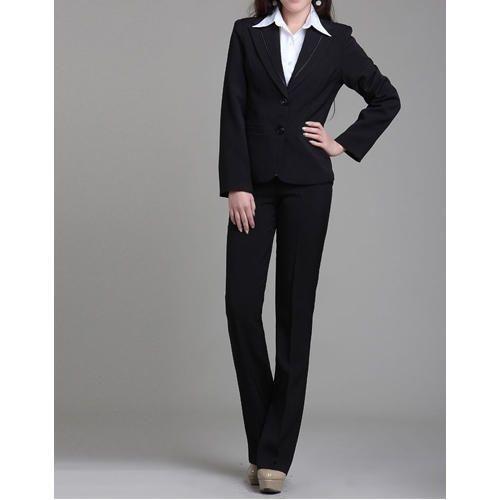 587464d5a08 Black And White Cotton Ladies Official Suit Uniform