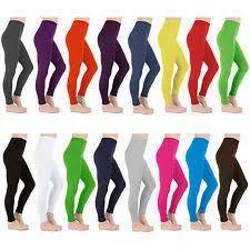 Latest Color Plain Cotton Leggings