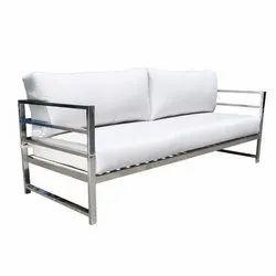 Chrome Finish Stainless Steel Sofa