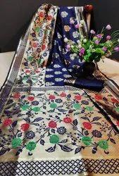 6.3 m (with blouse piece) Archit enterprise Banarasi Silk Saree