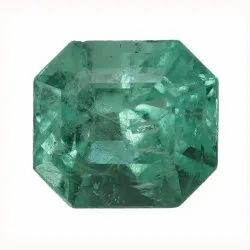 Octagon - Cut Sparkly Even Color Colombian Emerald