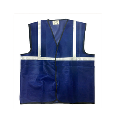 Reflective Vizwear Vests / Jackets 1 Blue Front Opening (plain Fabric)
