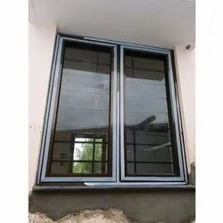 Coated Modern Aluminium Glass Window for Home, Thickness: 5mm-20mm