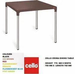 Rectangular Standard Height Cello Croma Table