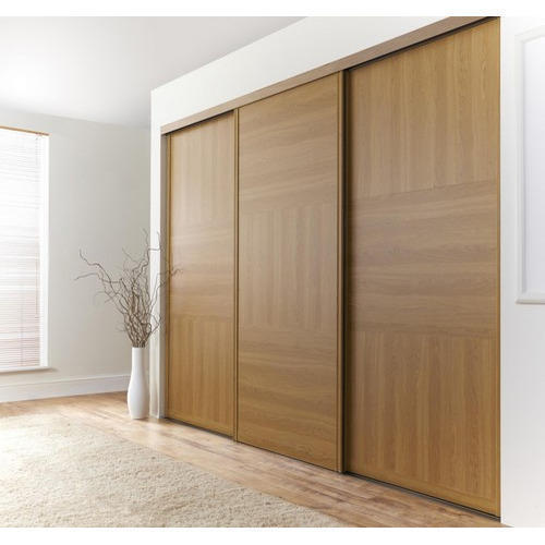 Customized Plywood Sliding Door Wooden Wardrobe, Rs 750 /square feet ...