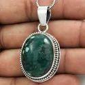 925 Chalcedony Gemstone Silver Pendant