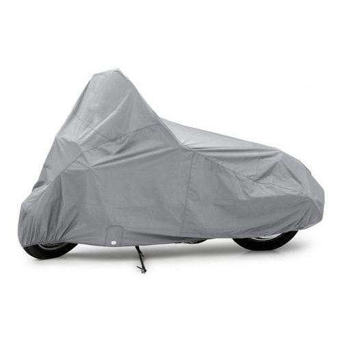 Polyester Grey Waterproof Motorcycle Cover