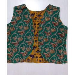 Kalamkari Cotton Reversible Short Over Coat
