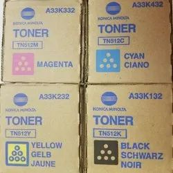 Konica Minolta TN-512 CYMK Toner Cartridge Set