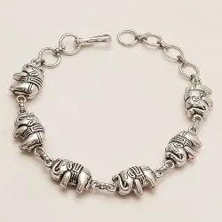 925 Sterling Silver Elephant Bracelet