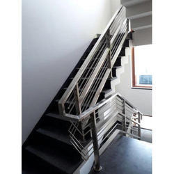 Stainless Steel Panel Build SS Railing Fabrication Work, 1/2 To 4 Inch, for Industrial