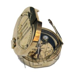 Golden Nautical Marine Brunton Compass, As A Item, Packaging Type: Corrugated Box