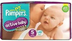Pampers Active Baby Diapers S-46 (Mrp 699)