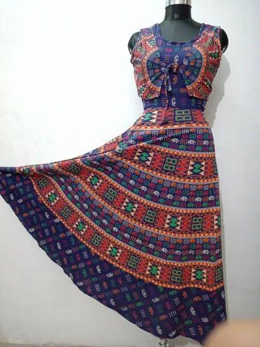 ab5af46ab Female Cotton Stylish Jaipuri Maxi Style Koti Frock
