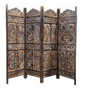 Mango & Engineered Wood Decorative Partition Screen/ Room Divider /separator, Size: 80 X 72 Inch
