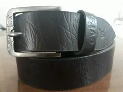 Male Black Leather Belts