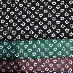 Denim Floral Rubber Print Fabric