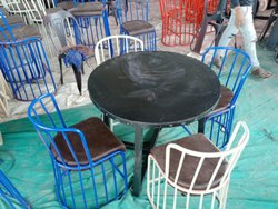 Metal Dianing Table With  Chair