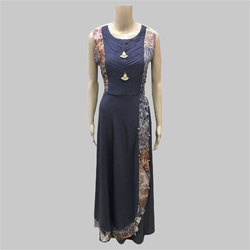 Medium And Large Cotton Party Wear Sleeveless Georgette Kurti