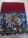 Red Cotton Kalamkari Saree