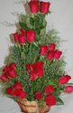 Red 24 Roses Basket