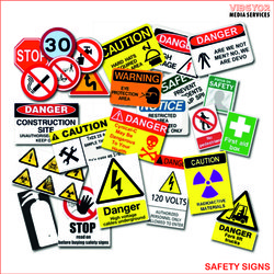 Rectangular White Safety Signage, For Industrial