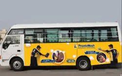 Paper Vinyl Online Bus Branding Service, For Advertisement, Mode Of Advertising: Vehicle
