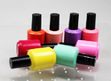 Multicolor Colorful Cylindrical Shape Nail Paint, Corrugated Box, Glass Bottle