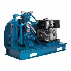 Two-Cylinder, Single-Stage Gas Compressors