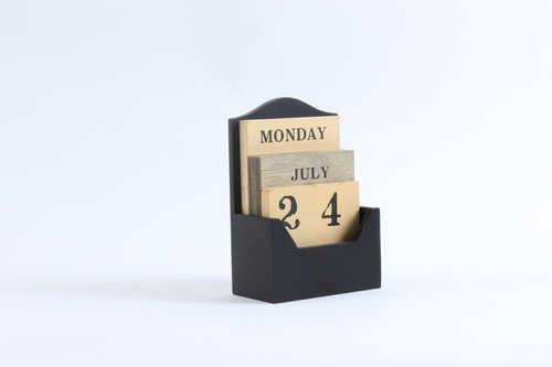 Modish Wooden Desk Calendar With Removable Month Date Day At Rs