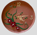 Mitticool Brown Clay Blossom Wall Clock, For Home