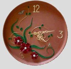 Clay Blossom Wall Clock