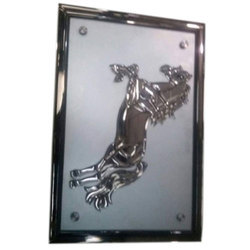 Silver Glass Decorative Mural Horse