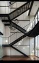 Straight Run Fire Exit Staircase, Material Grade: Iron